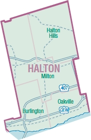 map of halton